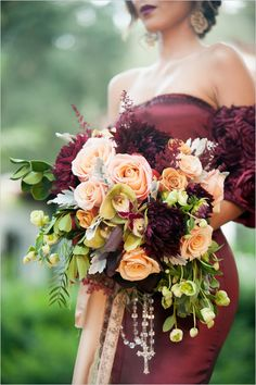 Wedding bouquet is an important part of the bridal look. Looking for wedding bouquet ideas? Check the post for bridal bouquet photos! Burgundy Wedding, Red Wedding, Floral Wedding, Wedding Colors, Wedding Flowers, Marsala And Gold Wedding, Autumn Wedding, Fall Bouquets, Fall Wedding Bouquets
