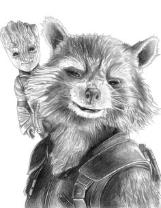 Zoom (The Flash) by on DeviantArt Rocket and Baby Groot (Guardians of the Galaxy by Avengers Drawings, Avengers Art, Galaxy Drawings, Art Drawings, Marvel Fan, Marvel Heroes, Baby Groot Drawing, Hulk Sketch, Groot Guardians