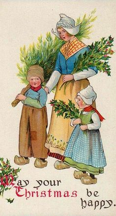 312 best kitschy ephemera greeting cards postcards images on dutch christmas m4hsunfo