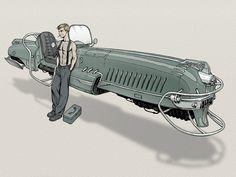 Dieselpunk car