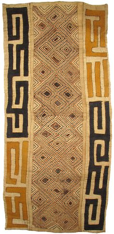 Hand-woven Kuba raffia cloth from The Congo.The African Fabric Shop : Textiles, beads and inspiration from Africa Ethnic Patterns, Textile Patterns, Textile Design, African Patterns, Japanese Patterns, Floral Patterns, African Textiles, African Fabric, African Design