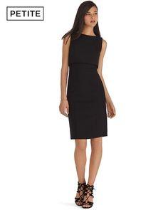 White House   Black Market Petite Sleeveless Removable Tier Black Sheath Dress #whbm  Removing the tier revels an interesting v-neck