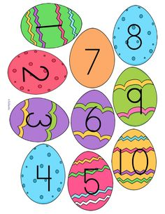 Match Easter Egg numbers with sets of chicks – cut out the eggs, cover the correct set with the egg. Learning Numbers Preschool, Easter Activities For Preschool, Preschool Kindergarten, Preschool Activities, Easter Crafts, Crafts For Kids, Spring Theme, Fun Math, Easter Eggs