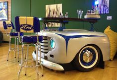 Bar made from 1948 Ford pick-up