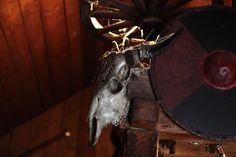 Skull. Viking decoration.