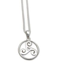 Ireland | sterling Silver | Pendant with Triskell, symbol of the union of Love, Strength and Wisdom.