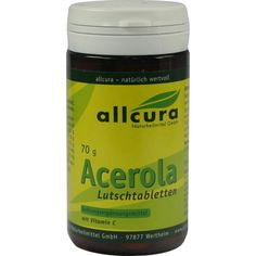 ACEROLA LUTSCHTABLETTEN:   Packungsinhalt: 70 g Tabletten PZN: 05885569 Hersteller: allcura Naturheilmittel GmbH Preis: 5,64 EUR inkl. 7…