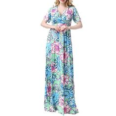 RosyBeat Women's Big Sizes Short Sleeves Floral Print Maxi Long Dress (10) Rosybeat http://www.amazon.com/dp/B01AJ6LQ66/ref=cm_sw_r_pi_dp_XSr-wb00WSSGC