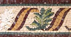 """4"""" Mosaic Border Tile Wall Floor Bath Home Decor Tiles by Mozaico. $38.00. Uses and display locations are unlimited!. All natural stones. Design can be customized as to size and / or colors. Mesh backing. Completely hand-made. Mosaics have endless uses and infinite possibilities! They can be used indoors or outdoors, be part of your kitchen, decorate your bathroom and the bottom of your pools, cover walls and ceilings, or serve as frames for mirrors and paintings."""