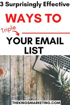 3 Surprisingly Effective Ways To Triple Your Email List. Emails are a vital part of your business. However, building a great email can take some time. In this video, we will show you a time-saving method that will triple your email list. #emailmarketing #emailmarketingtips #emailmarketingresponsivo #emailmarketingcampains Email Marketing Strategy, E-mail Marketing, Social Media Marketing, Digital Marketing, Communication Quotes, Effective Communication Skills, Set Up Email, Email Service Provider, Sales Strategy