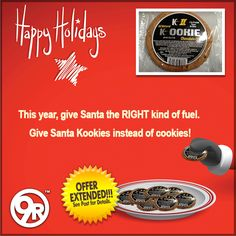 Because of the FANTASTIC response to the K II Kookie promotion, we have extended this (below) SPECIAL 30% off through Sunday, 12/21.   If you place your order by this Friday, 12/19, you will receive your order in time for Christmas!  https://www.facebook.com/9RoundOfficial/photos/a.302339355341.190603.70189065341/10152836069960342/?type=1  Promo Code:  9RSANTA  #KookiesForSanta #9Round #OrderByFriday