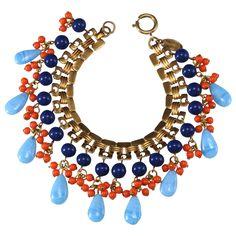 Miriam Haskell Egyptian Revival Bead Bracelet