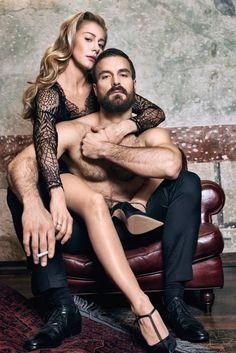Kasia Warnke i Piotr Stramowski siedzą przytuleni