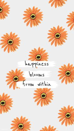 Download premium illustration of Happiness blooms from within. Quote