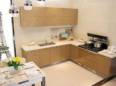 Stainless Steel Kitchen Cabinets, Corner Desk, Furniture, Home Decor, Corner Table, Decoration Home, Room Decor, Home Furnishings, Home Interior Design