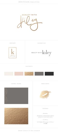 Mel Volkman Beauty Brand Modern Brand Board Handlettered Logo Monogram Lips Design Branding Pink Hand Lettering