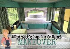 Love this pop up camper interior makeover... and she did it all with limited sewing skills!