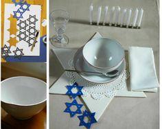 hanukkah table decorations - Google Search