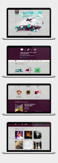 Music Delivery – website and illustrations for the Music Agency / Graphic Designer: Anna Bil, Front-end developer: Marek Mrowiec
