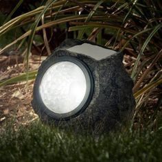 Pure Garden LED Solar Rock Landscaping Lights, Set of 4. To light up plants/flowers at night