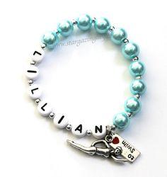 I LOVE to SWIM Charm Bracelet. Swimming girl by stargazinglily, $5.00
