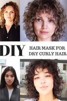 Choose a Good Hair Mask to Make Your Hair Grow Faster and Look Shiny Dry Curly Hair, Hair A, Grow Hair, Curly Hair Styles, Hair Type, Best Hair Mask, Diy Hair Mask, Easy Little Girl Hairstyles, Cool Hairstyles