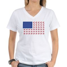 Patriotic USA Horse Flag Shirt