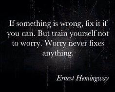 Hemingway's wise words