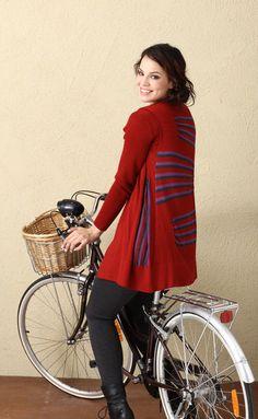 Moonstruck vest in Ruby Red