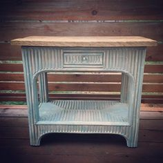 man,i wish i had a cabin in the woods! this Dixie Belle Paint Company vintage duck egg painted twig table with old oak plank top would be on the porch with a cup of coffee and a good book sitting on it,with me sitting next to it in a well worn,comfy rocker! Created by Paneful Salvation