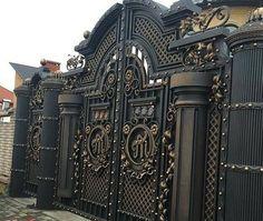 Design Discover Wonderful Main Gate Design Ideas To see More Visit Iron Main Gate Design, Home Gate Design, Gate Wall Design, House Main Gates Design, Steel Gate Design, Front Gate Design, House Outside Design, House Front Design, Railing Design