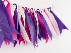 DIY Anleitung: Seidenpapiergirlande selber machen // DIY tutorial: how to make a tissue paper garland via DaWanda.com