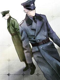 Axis Powers #Hetalia #APH_Preußen #APH_Deutschland #Ludwig_und_Gilbert #deutschen_Brüder