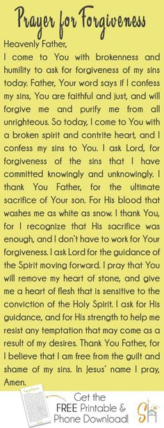 Prayer When You Need Forgiveness