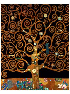 "The beauty of Austria represented by a tree ""Under the Tree of Life"" by Gustav Klimt"