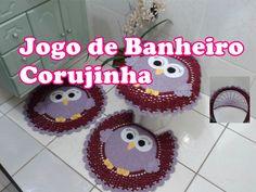 "Jogo de Banheiro Corujinha ""Tapete da Pia"""
