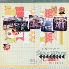 #papercraft #Scrapbook #layout    Layout by Melissa Stinson #scrapbooking