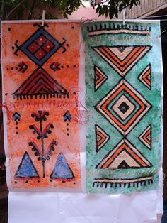 Peinture bérbére Artiste Peintre Olga Leila Diy Art, Unalome, Vintage Couture, Arabesque, Islamic Art, Tatoos, Decoration, Mandala, Leila
