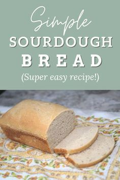 Super easy sourdough bread recipe - great for a sandwich loaf! Easy Sourdough Bread Recipe, Bread Recipes, Easy Dinner Recipes, Easy Meals, Bread Shaping, Kid Friendly Meals, Picky Eaters, Other Recipes, Food Print