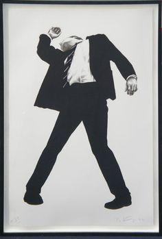 ロバート・ロンゴ版画額「Rick」 1994年/リトグラフ A.P.限30 サイン 「Man In The Cities」よりの代表作 117×77 額126.5×85.5  ¥950,000