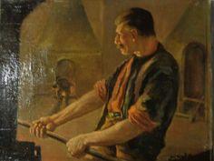 Jan Sluijters (1881-1957)  the worker master peace  oil on canvas Dutch