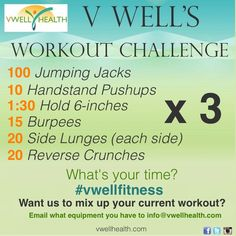 #workout #challenge #exercise #vwellfitness #fitness