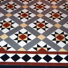Photos featuring our design, consultation and sheeted tile supply. Victorian, Edwardian, Georgian and contemporary ceramic tile designs. Ceramic Floor Tiles, Mosaic Tiles, Tile Floor, Tiling, Mosaics, Minton Tiles, Hall Tiles, Porch Tile, Stencils