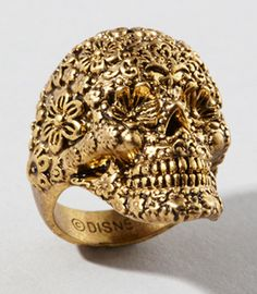 Disney Couture Jack Sparrow sugar skull ring from Fred Flare, $38