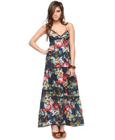 This spring maxi-dress is available at XXI Forever.