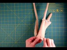 Cloth doll making: How to Stitch Legs to the Cloth Doll