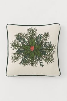 Cushion cover in woven cotton fabric with a printed motif at front solid-color back and contrasting piping. H&m Recycle, Gift Card Shop, H&m Home, Music Gifts, H&m Gifts, Christmas Shopping, Christmas 2019, Light Beige, Fashion Company