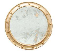 Federal Silver Leaf Round Mirror - Worlds Away - $573.00 - domino.com
