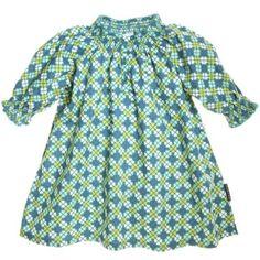 POLARN O. PYRET SMOCKED CHECK & CLOVER DRESS (BABY) $42.50