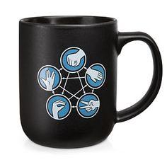 ThinkGeek :: Rock Paper Scissors Lizard Spock Desktop Mug
